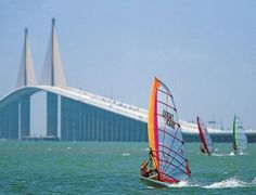 St Petersburg is home of the world famous Sunshine Skyway Bridge crossing the bay between St Pete and Bradenton, Florida