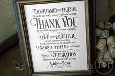 Hey, I found this really awesome Etsy listing at https://www.etsy.com/listing/206345339/wedding-reception-thank-you-sign-to-our