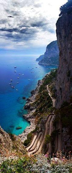 Italy Travel Inspiration - ✯ Capri - Campania, Italy, near Naples, island South of Naples