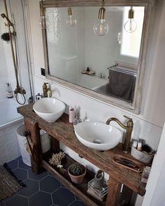Intriguing Rustic Bathroom Vanities Will Transform Your BathroomYou can find Rustic bathrooms and more on our website.Intriguing Rustic Bathroom Vanities Will Transform Your Bathroom Diy Bathroom Vanity, Rustic Bathroom Vanities, Rustic Bathroom Decor, Boho Bathroom, Bathroom Storage, Modern Bathroom, Small Bathroom, Master Bathroom, Bathroom Vintage