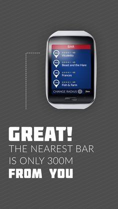 Moscow by Gear. Samsung Gear S app UI on Behance