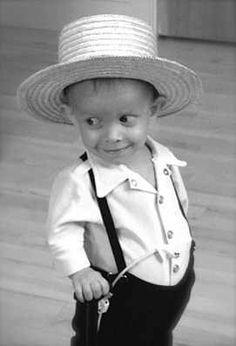 Cute little Amish boy...........