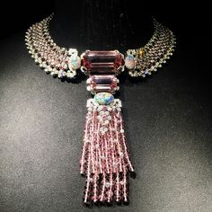 Colliers de la collection de haute joaillerie Coloratura de Cartier. #coloratura #cartier @cartier India Jewelry, Wire Jewelry, Antique Jewelry, Jewelry Bracelets, Jewlery, Cartier Necklace, Collar Necklace, Pearl Necklace, Baubles And Beads