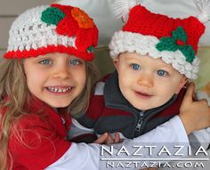 Crochet Christmas Hat Hats Crocheted by Donna Wolfe from Naztazia