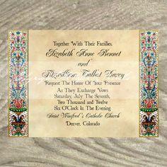 custom wedding invitations for theme weddings, renaissance, Wedding invitations
