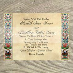 custom wedding invitations for theme weddings, renaissance, Wedding invitations