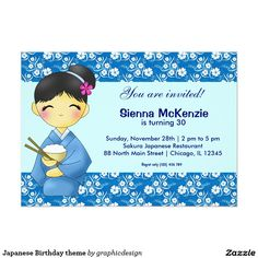 Sold #Japanese #Birthday #invitations Available in different products. Check more at www.zazzle.com/graphicdesign