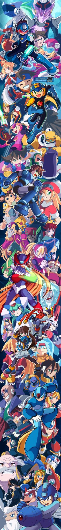 For the years you've always entertained me, inspired me, and gave me joy. Thanks MegaMan, 25 Years of MegaMan by =suzuran on deviantART