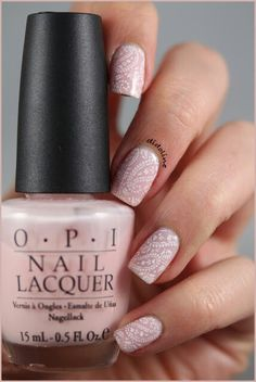 OPI Bubble Bath  plate SdP 39 Dashica with white