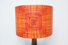 Retro Lampshade, Original 60s/70s Paper, Orange, Pink, Boho By PoppetRetro  On Etsy