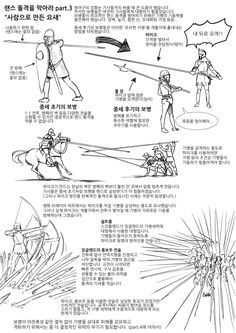European Pikemen and archers, and how to deploy to defend against a Cavalry charge with lances. Text in Korean. Manga Drawing Tutorials, Drawing Tips, Armor Concept, Concept Art, Pose Reference, Drawing Reference, Knight Drawing, Landsknecht, Anatomy Drawing