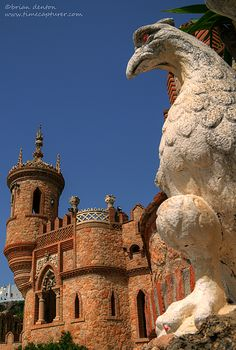 Castillo Colomares, Benalmadena Pueblo, Spain, a monument dedicated to Christopher Columbus and his discovery of America