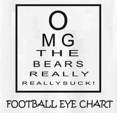 Football Eye Chart  O MG THE BEARS REALLY REALLY SUCK!  Yep!