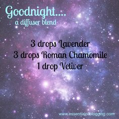 sleep aid for insomnia - essential oils - diffuser blend - lavender, Roman chamomile, vetiver