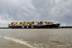 """Containerschiff """"MSC AGADIR"""" – IMO 9619464 // #HamburgerHafen #Hamburg #Schiffe #Containerschiff #Hafen #MSC #MSCAgadir / gepinnt von www.MeerART.de"""