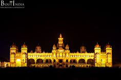 The majestic Mysore Palace in all its grandeur! Located in the heart of the city, Mysore Palace is one of the most visited monuments in India. The original palace built of wood, got burnt down in 1897, during the wedding of Jayalakshammanni, the eldest daughter of Chamaraja Wodeyar and was rebuilt in 1912.  #MysorePalace #Mysore #India #Jayalakshammanni #ChamarajaWodeyar