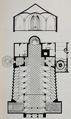Dominikus Böhm: Floor Plan St. Johann Baptist Neu-Ulm 1926