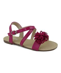Take a look at this Dotty Shoes Fuchsia Gimy Sandal today!