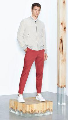 Sportswear-inspired style from the BOSS Menswear Spring/Summer 2016 lookbook
