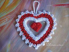 Valentine's crochet heart