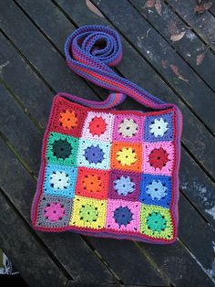 crochet granny square purse ::inspiration::