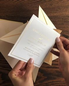 Unique Blush and Gold Origami Wedding Invitation with Custom Monogram design by Penn and Paperie | Modern | Luxury | Wedding Invitation Suite | Summer | Spring | Pastel | Light | Beautiful |