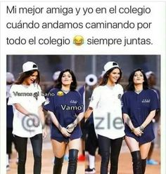 Funny Spanish Memes, Spanish Humor, Funny Memes, Bff Goals, Friend Goals, Girl Memes, Bff Quotes, Friend Photos, Best Friends Forever