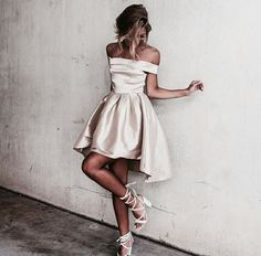 A-line Mini Off-the-shoulder Newest Homecoming Dress_Homecoming Dresses_Special Occasion Dresses_Buy High Quality Dresses from Dress Factory - Newarrivaldress.com