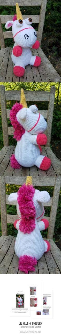 Lil fluffy unicorn amigurumi pattern