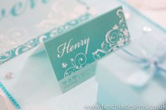Printed and personalised wedding stationery. Typography Heart collection place name. www.fuschiadesigns.co.uk