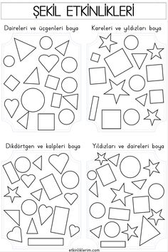 Shape Worksheets For Preschool, Shapes Worksheet Kindergarten, Shapes Worksheets, Preschool Shapes, Occupational Therapy Activities, Preschool Activities, Shape Activities, Shapes For Kids, Pre School