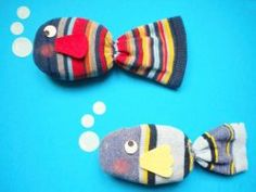 Fishers of Men/Fish with a Loaves of Bread and 2 Fish/Peter Casts the Net… - Fisch Krafts Ideen Kids Crafts, Sock Crafts, Bible Crafts, Summer Crafts, Arts And Crafts, Gato Origami, Sock Toys, Ocean Crafts, Rainbow Fish