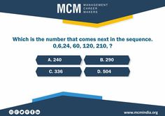 Which is the number that comes next in the sequence.... Answer this simple question and get a chance to get amazing gifts from Mcm Classes #mcmindia www.mcmindia.org