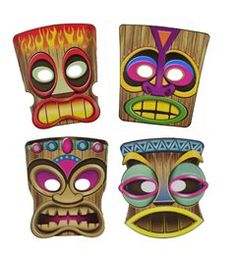 Totem pole coloring pages free view similar images more for Tiki hawaiano