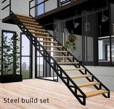 Modern steel build set from GardenBreeze