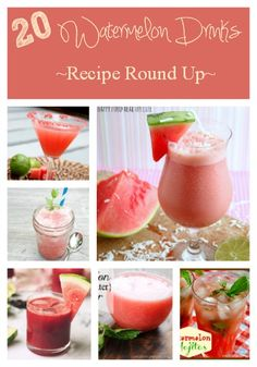 20 Watermelon Drinks Recipe Round Up, with summer in full swing take advantage of the watermelons with these great watermelon drinks!