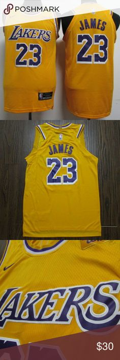 e17191563 Lebron James LA Lakers  23 Yellow Jersey Nike Brand new with tags Authentic  Yellow