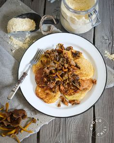Vegan Chickpea Pancakes with Wild Forest Mushrooms | Chocochili.net