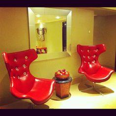 Waiting area at The May Fair Hotel