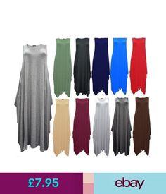 Dresses Women Italian Lagenlook Tulip Parachute Dress Stretchy Sleeveless Tunic Top 8-24 #ebay #Fashion