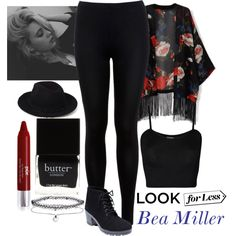Look for Less: Bea Miller by pecolajones on Polyvore featuring WearAll, Miss Selfridge, Wet Seal, Forever 21, PurMinerals, Butter London, BEA and LookForLess