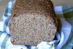 sprouted wheat bread - recipe from Laurel's Kitchen Bread Book Sprouted Bread Recipe, Sprouted Wheat Bread, Wheat Bread Recipe, Vegan Bread, Bread Recipes, Whole Food Recipes, Cooking Recipes, Soaked Bread Recipe, Savoury Recipes