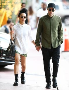 FKA Twigs and Robert Pattinson looking super cute with their matchy matchy Dr.Martens style! http://asos.do/J0A4l2
