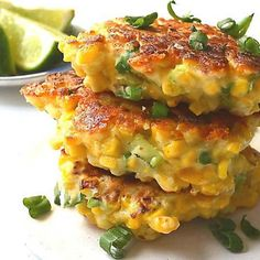 Easy, 20-minute Mexican corn cakes with cheese, jalapeno & fresh lime. Light, fluffy, deliciously golden-brown!