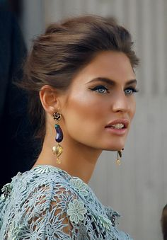 Bianca Balti... her makeup on a beautiful skin. Clear skin imperfections with…