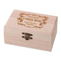 True Love Wooden Ring Box Ring Bearer Pillows, Ring Bearer Box, Ring Pillows, Wooden Ring Box, Wooden Rings, Lillian Rose, Square Rings, Wedding Keepsakes, Decorative Storage