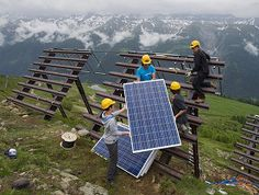 # switzerland and solar    Mounting photovoltaic panels on anti-avalanche infrastructure in canton Valais