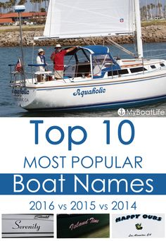 Is your favorite boat name on the list? BoatUS shares their annual list of the most popular boat names chosen by boaters – compare top boat names from 2016, 2015 and 2014 #boatnames