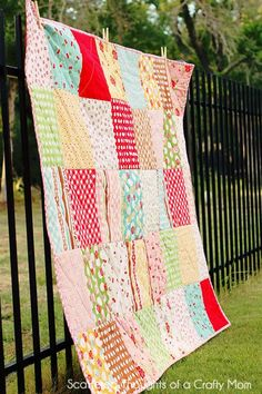 Scattered Thoughts of a Crafty Mom: Beginner Quilt