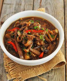 Szechuan Eggplant in Garlic Sauce (Vegan, Gluten-Free)